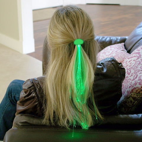 Glowbys Light-up Fiber-Optic Hair Barrette, RED