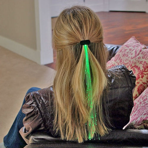 Glowbys Light-up Fiber-Optic Hair Barrette, GREEN