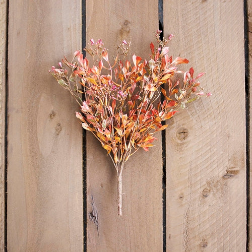 Lovage Leaf Sprig With Berries, Realistic Decorative, 14 in, Copper