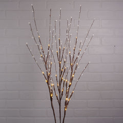Lighted Branches, Timer Battery LEDs, Crystal Beads, 40 in, Warm White