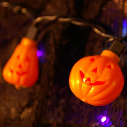 Halloween String Lights, Pumpkins, Jack O Lanterns, 5.5 feet, Indoor, Plug-In