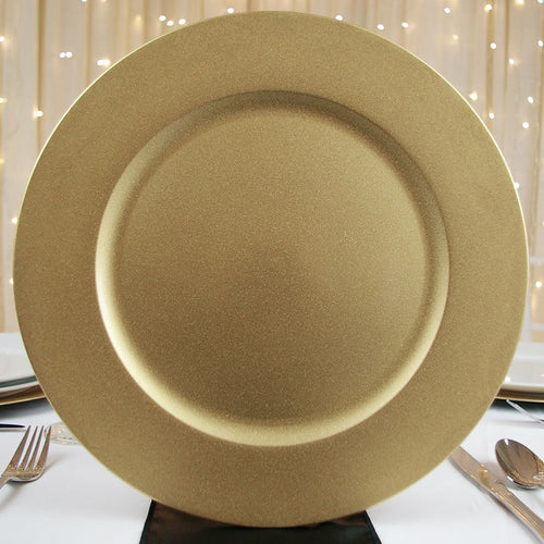 Round Charger Plate, Gold, 13 inch