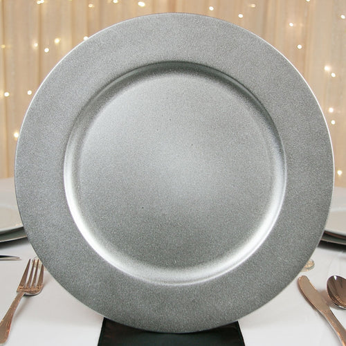 Round Charger Plate, Silver, 13 inch