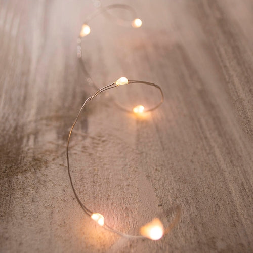Fairy Lights, LED, 11 foot, Silver Wire, Battery, Timer, Warm White