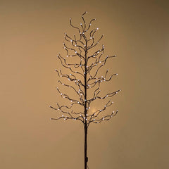 Lighted Manzanita Tree with Stand, 5 feet, 200 LED Bulbs, Brown, Warm White