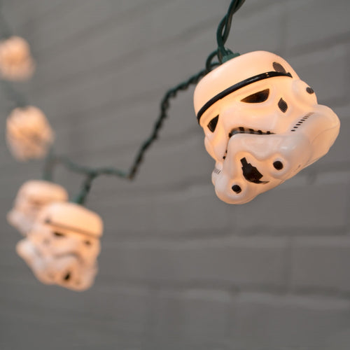 String Lights, Star Wars, Stormtrooper, Outdoor, Green Wire, 11 ft., Plug In