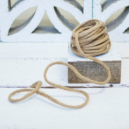 Jute Rope Twine with Bendable Wire, 9 Yards, Rustic Burlap String, Natural