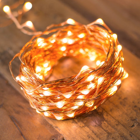 Tinsel Globe String Lights, 1.5 Inch Bulbs, 25 Foot Green Wire, Warm White