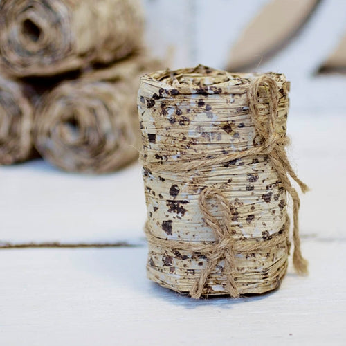 Faux Birch Ribbon Roll, Decorative DIY Bark Paper, 4 inches x 6 feet