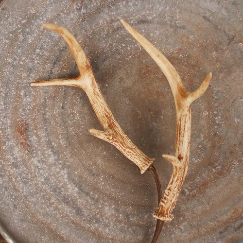 Deer Antler Floral Pick, 8 in. Resin Horns, Woodland Decor, 23 inches