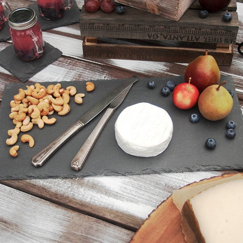 Rectangular Slate Cheese Board, Chalkboard Blackboard Serving Tray