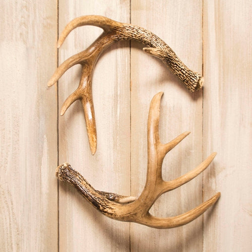 Deer Antler, Reproduction Decorative Deer Horn, 12 inch, Set of 2