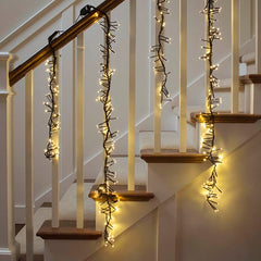 Commercial LED Supernova Garland, 4 ft Black Wire, Multifunction, Warm White
