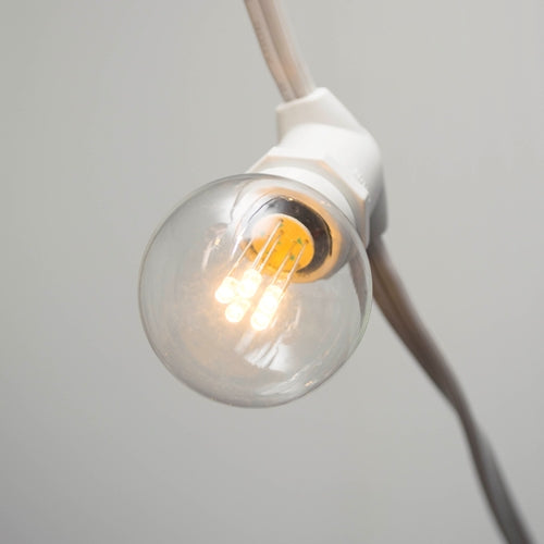 Replacement Bulb 5 LED, 1.5 in. Glass G40, 0.4 Watt 120 Volt, C9/E17 Base, Warm White