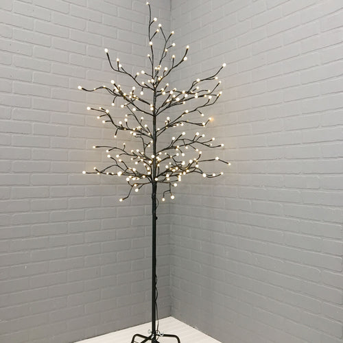 Lighted LED Tree, Outdoor, Plug In, Multifunction, 6 feet, Warm White