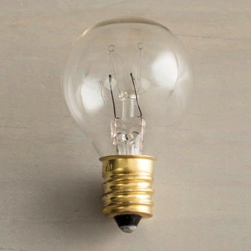 Replacement Globe Light Bulb, G30, 5W/130V, E12 Base, Clear