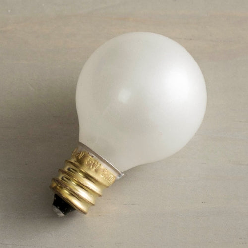 Replacement Globe Light Bulb, G30, 5W/130V, E12 Base, Pearl