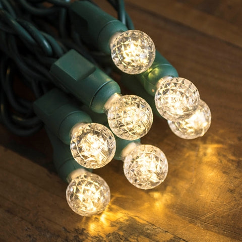 String Lights, 12 ft, Plug in, Green Wire, Warm White