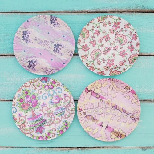 Salad Plates, Melamine, 7.5in., Assorted Party & Event Pack, Set of 4