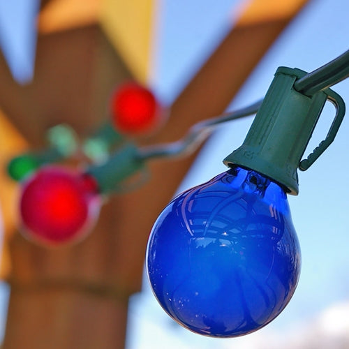 Globe String Lights, 1.5 Inch Bulbs, 25 Foot Green Wire, Multicolor