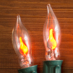 Replacement Bulbs, C7 Flicker Flame, 1W/120V, 2 pack, Pointed Tip