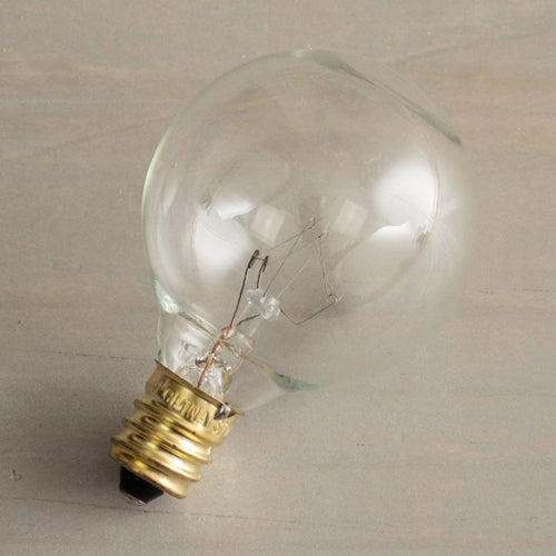 Replacement Globe Light Bulb, G40, 5W/130V, E12 Base, Clear