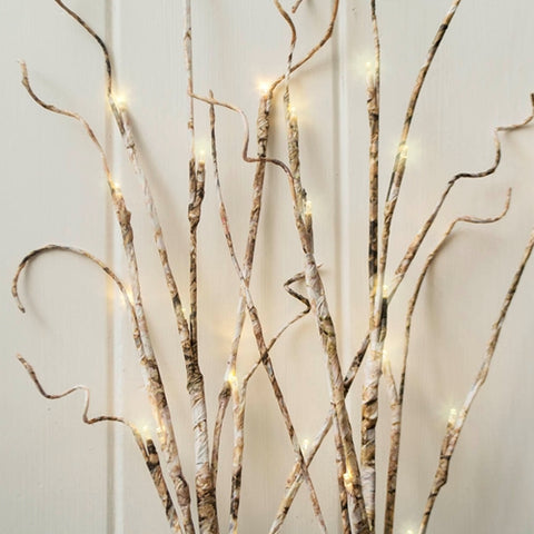 Lighted Manzanita Tree with Stand, 3 feet, 112 LED Bulbs, Brown, Warm White