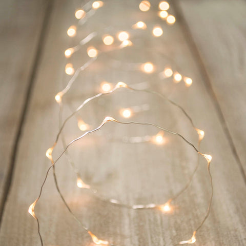 Fairy Lights, Submersible LEDs & Battery Pack, Floral Lights, 9 feet, Red