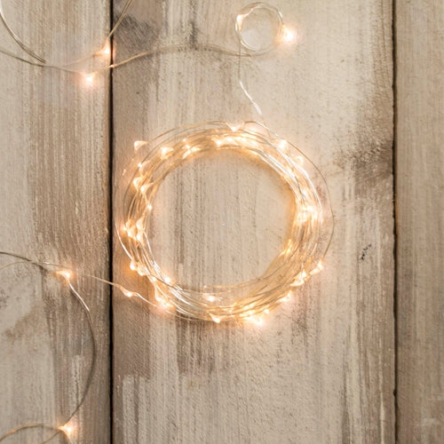 LED Fairy Lights, Battery Op, 10 ft, Timer, Multifunction, Warm White