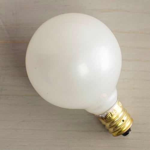 Replacement Globe Light Bulb, G40, 5W/130V, E12 Base, Pearl