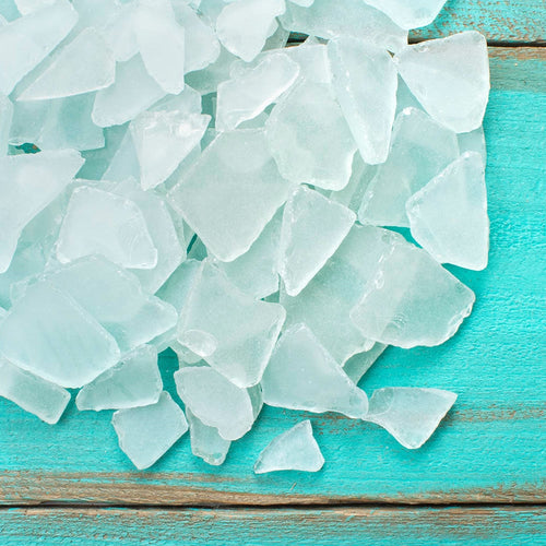 Vase Filler, Sea Glass, 4.5 lbs, Beach Table Scatter, Light Green