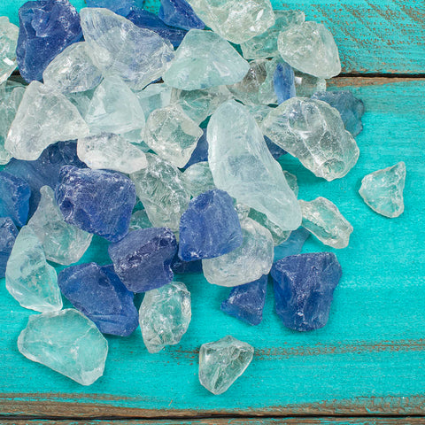 Vase Filler, Sea Glass, 1 lb, Nautical Beach Table Scatter, Frosted