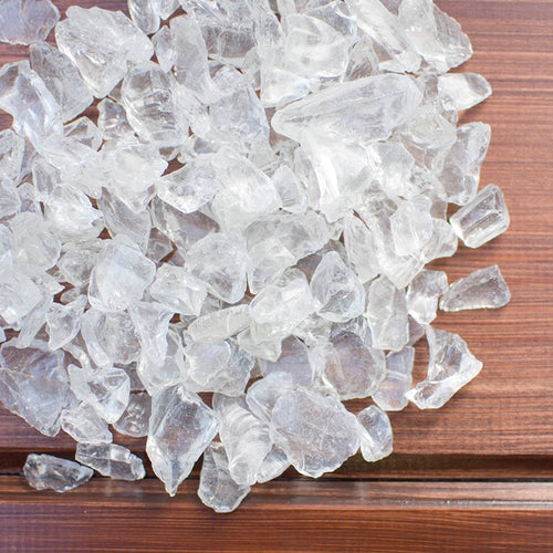 Vase Filler, Glass, 4.2 lbs, Table Scatter, Assorted Sizes, Clear