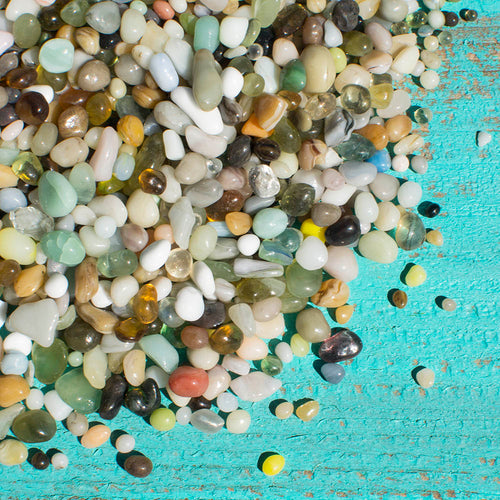Vase Filler, Glass, 4.6 lbs, Asst. Fine Grain Pebbles, Multicolor