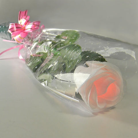 Floating LED Lighted Rose, On/Off Button, 3 inch, Programmable Color, Set of 8