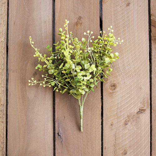 Eucalyptus Sprig With Buds, Realistic Decorative, 14 in, Green