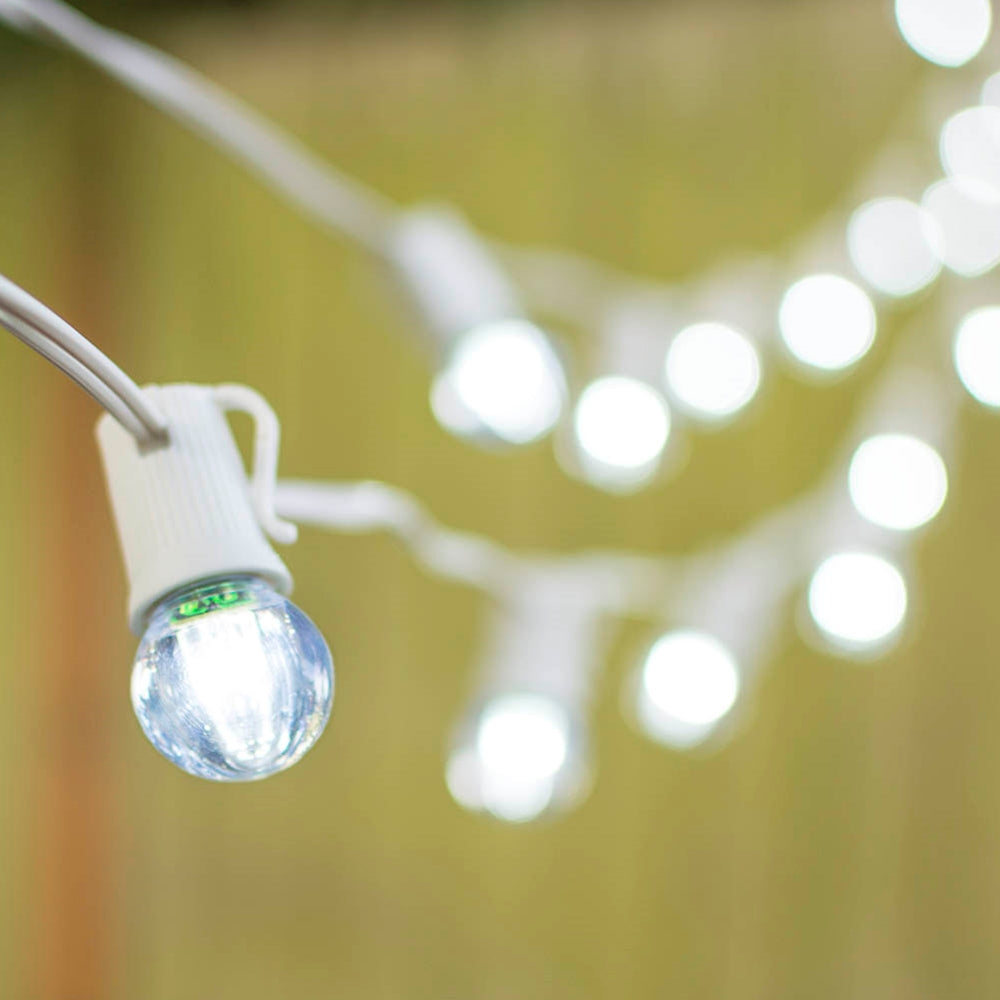sports shoes 904c7 b6fd6 Buy LED Globe String Lights, G30 Bulb, 100 ft White C9 Strand, Cool White  at Lights For All Occasions for only $297.55
