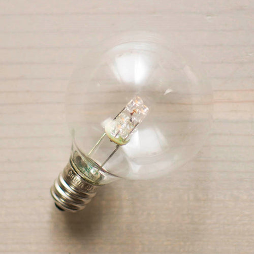 Replacement Bulb, 5 LED, G40, 0.6 Watt 130 Volt, E12 Base, Warm White