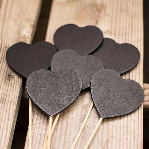 Chalkboard Picks, Table Number Stakes, Heart, 21.5 inch, 12 Pack