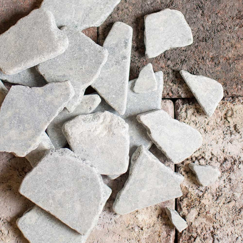 Slate Rock Vase Filler, 2.2 lbs, Table Scatter, Assorted Sizes, Gray
