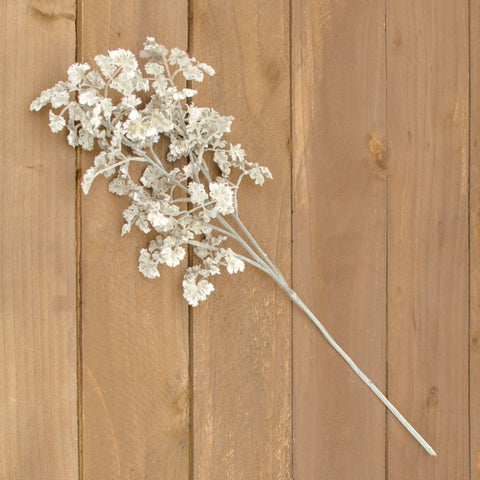 Silver Dollar Spray, Realistic Branch, 52 inches, Pearlescent, 8 Pack