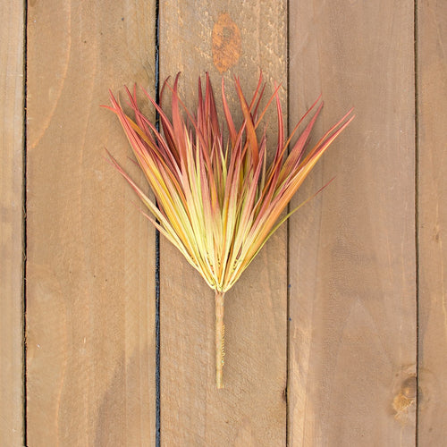 Tall Grass Stem, Realistic Sprig, Floral Pick, 14 inches, Rust