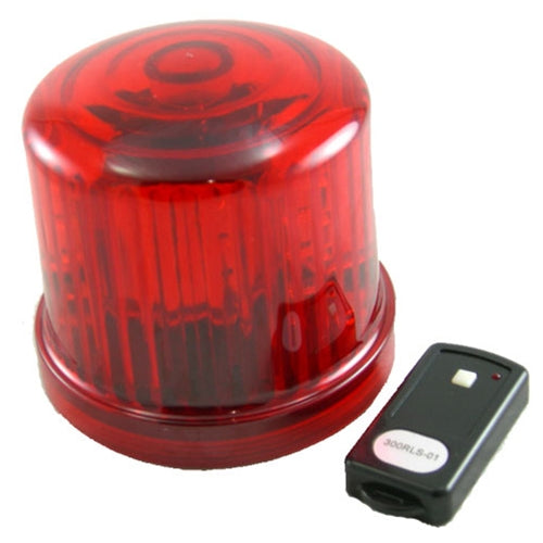 LED Police Beacon, Revolving Light, Battery Op, Remote Control, RED