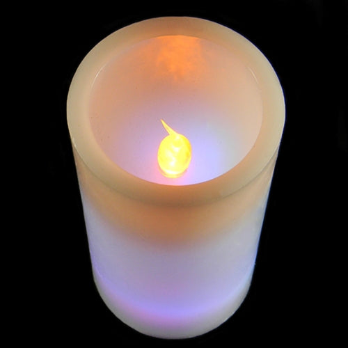Buy Wax Pillar Candle, Flickering Amber LED, Optional Colored LEDs, 6 inch  at Lights For All Occasions for only $8.95