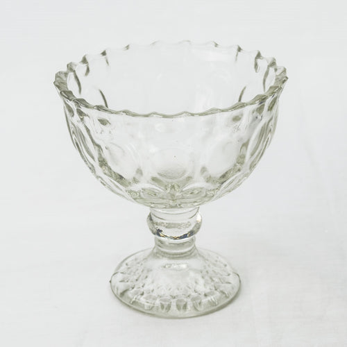 Glass Compote, Heirloom Bowl with Pedestal Base, 4.25 inch, Clear