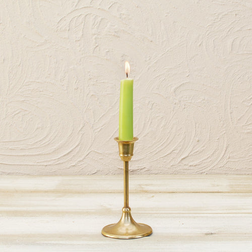 Taper Candle Holder, Metal Candlestick, 6.25 inch, Solid Brass