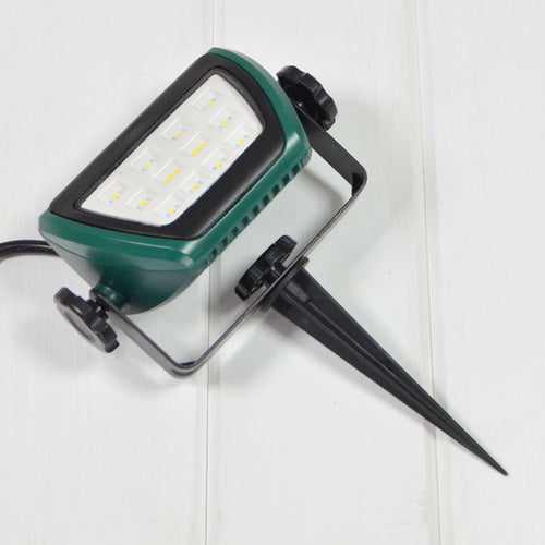 LED Spike Light, Adjustable Spotlight, 5.25 in, Outdoor, Multicolor