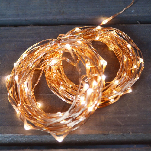 LED Fairy Lights, Copper Wire, Plug In, Multifunction, 50ft, Warm White