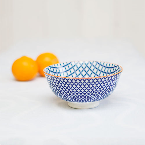 Tidbit Bowl, Round Porcelain Serving Dish, 4.75 x 2.25 inches, Trellis
