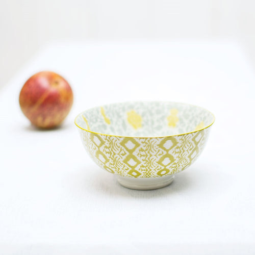 Tidbit Bowl, Round Porcelain Serving Dish, 2.25 inch, Chartreuse Green
